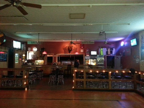 Bolivar, OH: From dance floor looking at the bar & back patio area