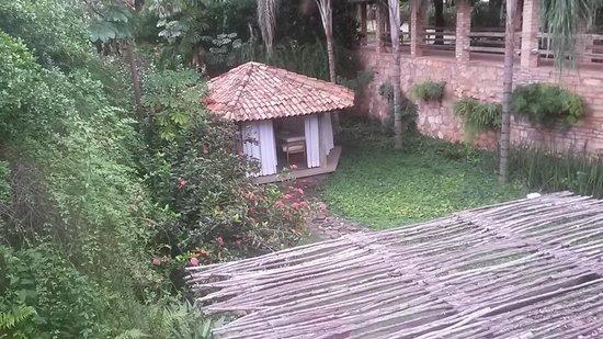 Hotel de Lencois: vista do salão café da manha