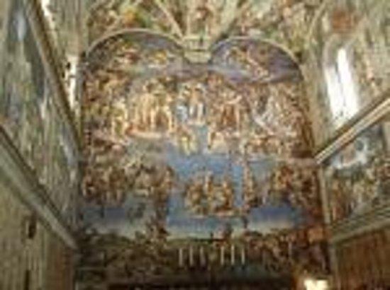 Sistine Chapel: frescos de Miguel Angel