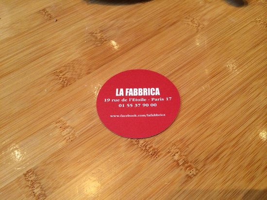 La Fabbrica : Business Card