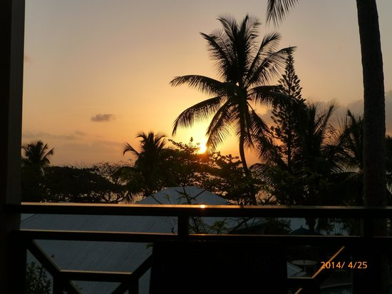 Sugar Mill Hotel: Sunset from our deck