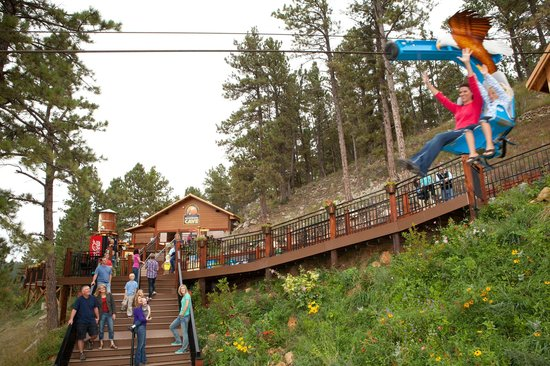The Soaring Eagle Zip Ride at Rushmore Cave.
