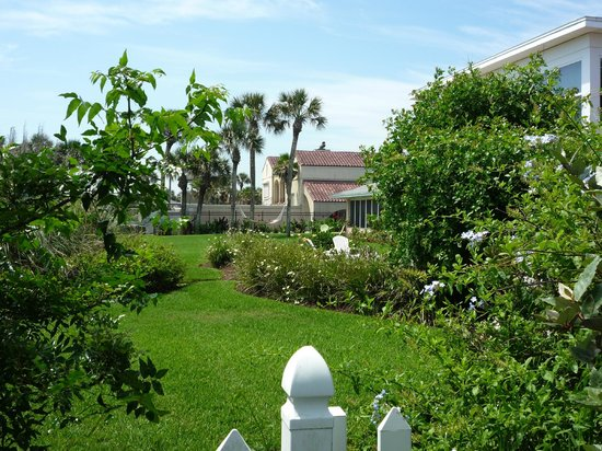 Beachfront Bed & Breakfast: Well landscaped grounds