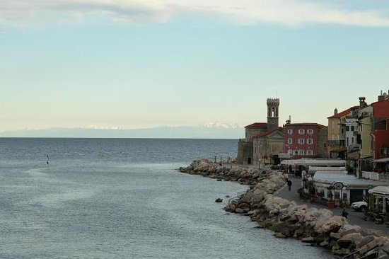 Hotel Piran: View from room early in the morning