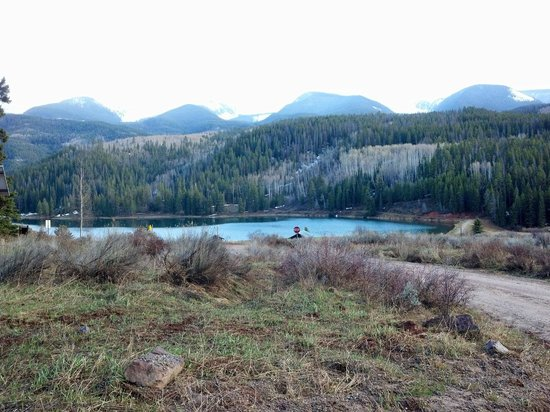 Sylvan Lake State Park Campground: The view from the cabin