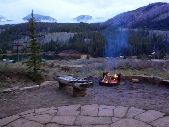 Sylvan Lake State Park Campground : Fire ring and lake view