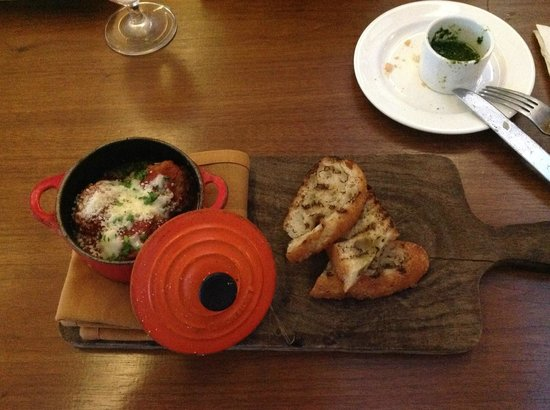 Tuscan Meatballs, at Osteria Pronto in the JW Marriott, Indianapolis