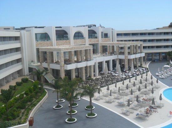 Princess Andriana Resort & Spa: hotel vue de notre chambre