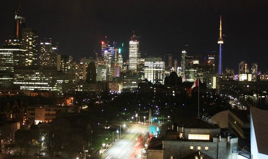 Park Hyatt Toronto: Night view of CN Tower from the room