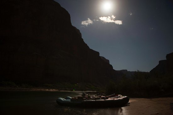 Colorado River & Trail Expeditions: Bright Night at Colorado river - Nankoweap Camp