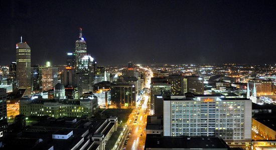 JW Marriott Indianapolis : View, King Room, 33rd Floor, JW Marriott, Indianapolis, IN