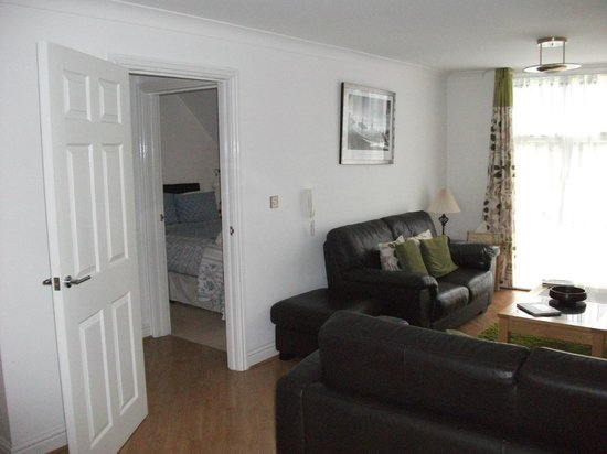 Kernow Homes - Travel accommodation: Living room and bedroom 1