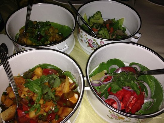 The Danna Langkawi, Malaysia: Chef Mohamed's vegetarian tiffin diner (special request)
