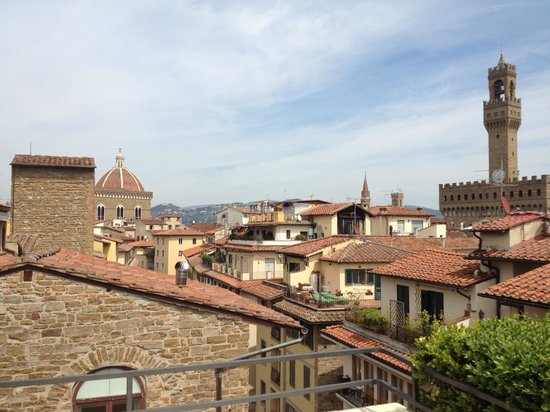 Continentale: vue de la terrasse