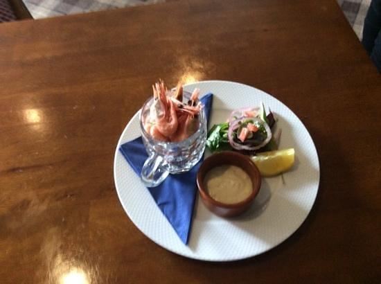 Anchor Inn: delicious smoked prawns