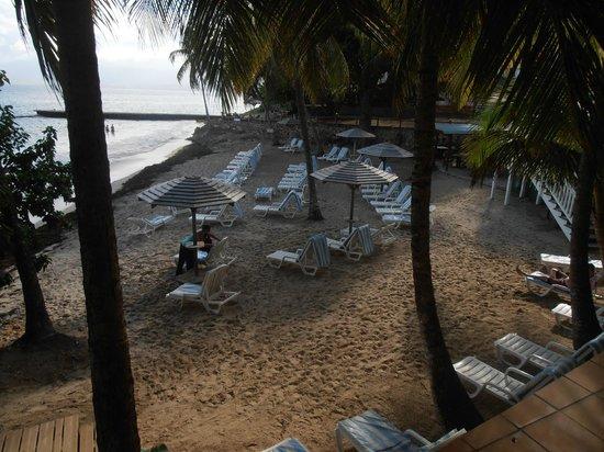 Auberge de la Vieille Tour: L'espace plage