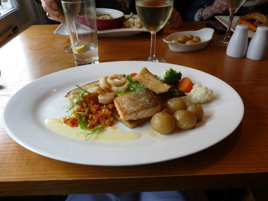 The Grey Lady: Fish main course on Sunday Lunch Menu