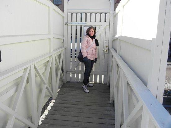 M/S Monika: O portão da saída.