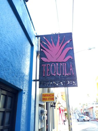 Tequila : Restaurant signage outside