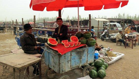 Kashgar Offbeat Tours Silk Road Adventure: Fresh watermelon