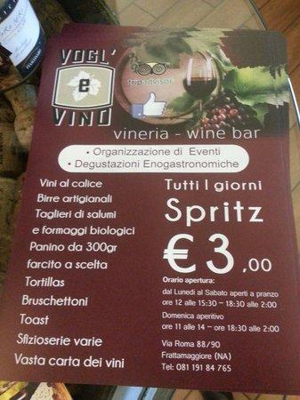 Vogl'e' Vino : Wine bar Vogl'e Vino