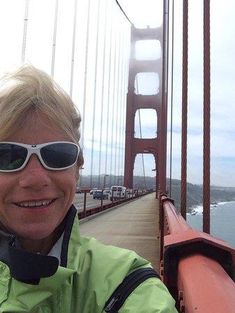 Selfie On The Bridge Picture Of Blazing Saddles Bike
