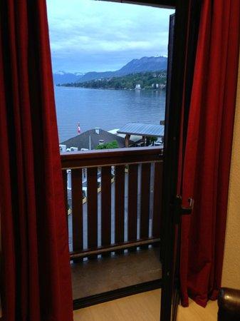 Hôtel de la plage : balcón y vista habitación 19