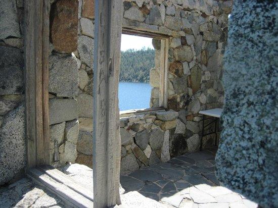 "Emerald Bay State Park: Inside the ""Tea House"" on the island."