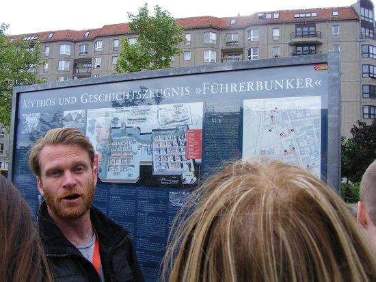 SANDEMANs NEW Europe - Berlin: Rob explaining the place of Hitler's Bunker