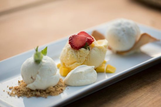 T.O.A.D Hall Store & Cafe: Trio of ice creams from our dessert menu