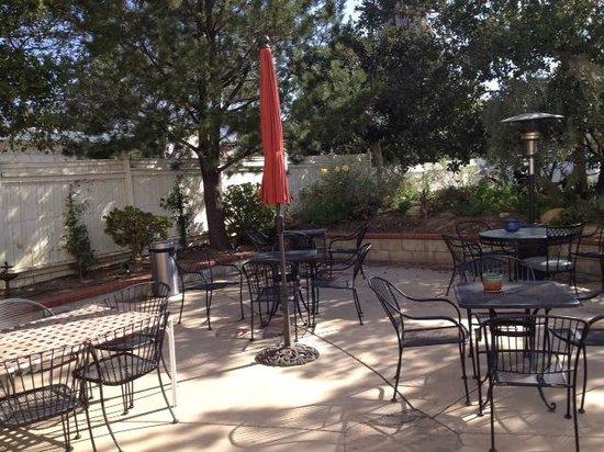 Santa Paula Inn: The patio area in the back of the Inn.