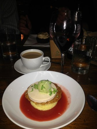 Carmella's: Super Tuscan Vino; Decaf and a special Mother's Day dessert