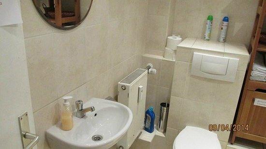 Pension Lindner: Baño compartido en tercer piso
