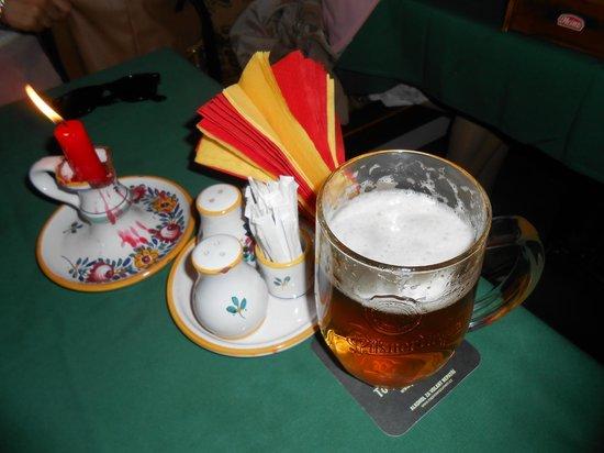 Staromáček: our table