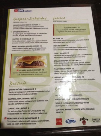 Superior Hilton Garden Inn Ft. Lauderdale Airport Cruise Port: Restaurant Menu At  The Hotel Design