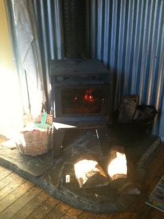 The Glenorchy Hotel: A very efficient log burner which was most welcomed!