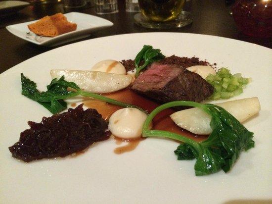V Zatisi : Prato com carne do menu degustação