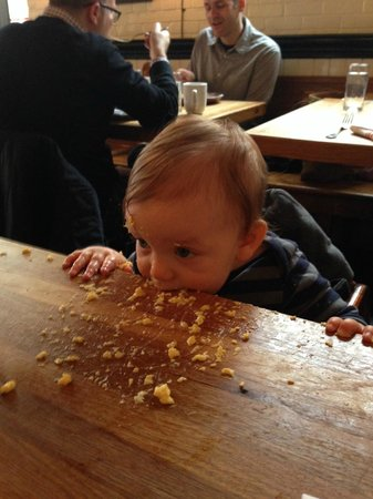 The Dutch : Our friend's toddler loved his scrambled eggs :)
