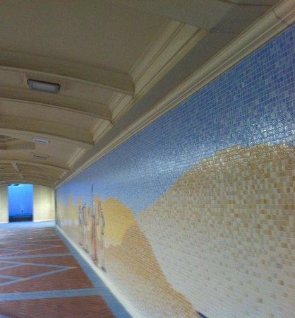 Hilton Abu Dhabi: Passaggio per arrivare al mare