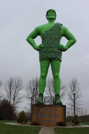 Green Giant Statue Park: Green Giant Statue.