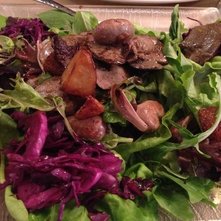 Le Lapin Saute: Rabbit Kidney and Liver Salade