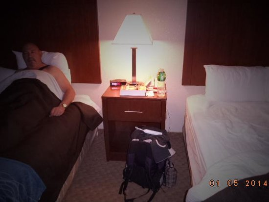 Comfort Inn Dixon: The lamps by the bed, albeit standard everywhere, made it very cozy