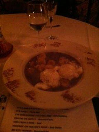 Tony Stella's Encore : Bananas Foster.  Sorry so dark. Restaurant was not this dark.