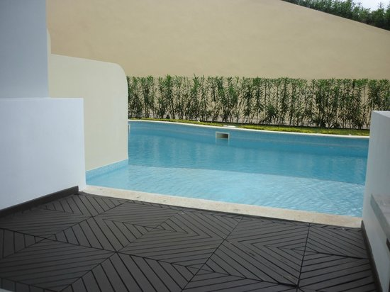 Iberostar Grand Hotel Rose Hall: Walk Out Pool / Patio with Lounge & Swing