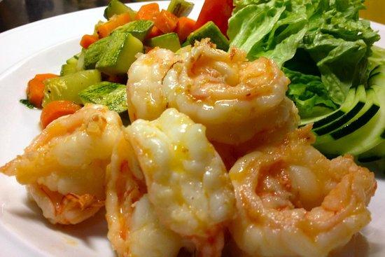 Cristal Azul : Garlic Shrimp