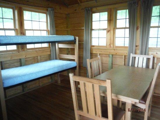 Shenandoah River State Park : Camp Cabin Interior