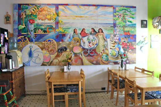 Simply Natural : Mural in dining area