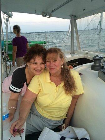 Kathleen D Sailing Catamarans: Sailing with a friend.