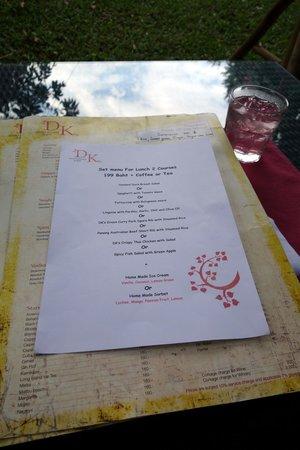 Set lunch menu - Picture of David\'s Kitchen, Chiang Mai - TripAdvisor
