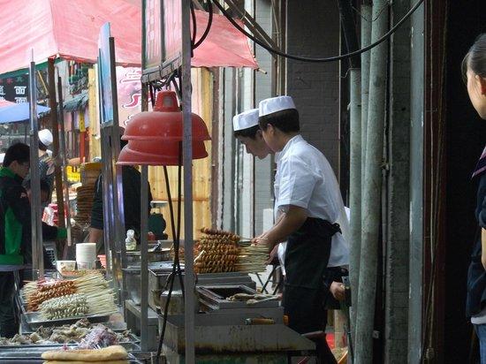 Drum Tower (Gulou) : 鼓楼裏手にある回族たちがやっている飲食街(学校とかもあります)